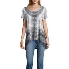 One World Apparel Short Sleeve Scoop Neck T-Shirt-Womens