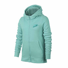 Nike Long Sleeve Zip Club Hoodie - Girls' 7-16