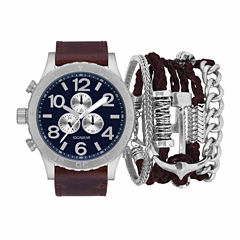 Rocawear Mens Brown 7-pc. Watch Boxed Set-Rmst5353s328-510