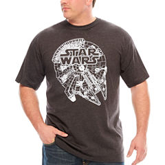 Starwars Tilted Falcon Short Sleeve Graphic T-Shirt-Big and Tall