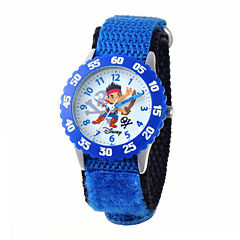 Disney Jake Kids Time Teacher Blue Fast Strap Watch