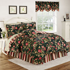 Waverly® Charleston Chirp Noir Reversible Quilt Set