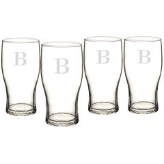 Cathy's Concepts Personalized Pilsner Glasses 4-pc. Beer Glass Set