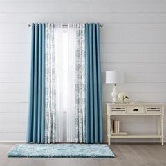 JCPenney Home Quinn, Jacobean Quinn, & Batiste Sheer Grommet-Top Curtain Panels
