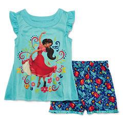 Disney Elena Short Sleeve 2pc PJ Set