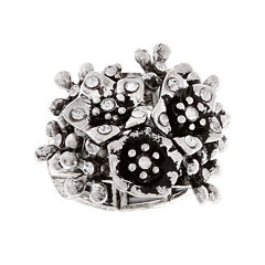 Mixit™ Silver-Tone Stretch Flower Ring