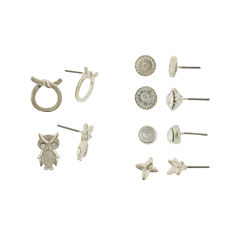 Capelli New York Silver-Tone 6-pr. Stud Earring Set