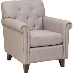 Farris Button-Tufted Club Chair
