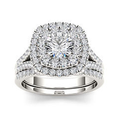 2 CT. T.W. Diamond 14K White Gold Bridal Set