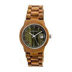 Earth Wood Biscayne Unisex Green Bracelet Watch-Ethew4204
