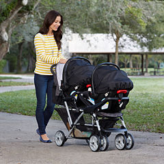 Graco Duo Glider Click Connect Double Stroller - Glacier