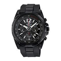 Casio® Edifice Mens Black Dial Black Resin Strap Solar Watch EFR545SBPB-1B
