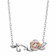 Enchanted By Disney Sterling Silver Gold Over Silver 18 Inch Chain Necklace