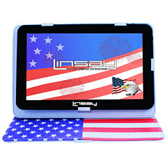 LINSAY® New 10.1'' Quad Core 1024x600HD 8GB Tablet with USA Style Leather Protective Case