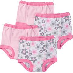 Gerber® 4 Pair Potty Training Pants Girls