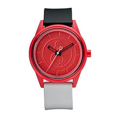 Smile Solar Red Black and White Strap Sports Watch