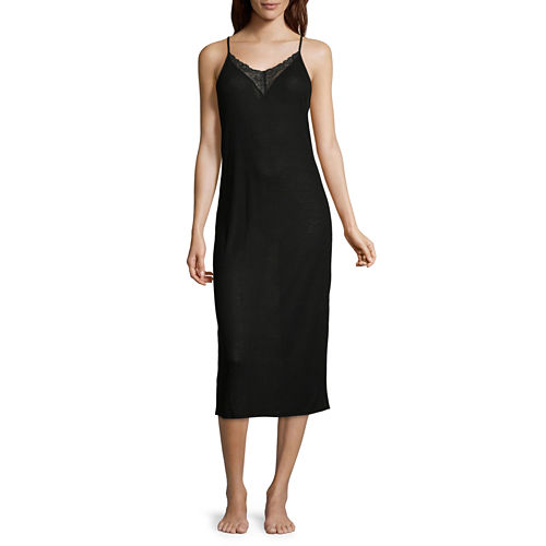 Ambrielle Jersey Sleeveless V Neck Nightgown