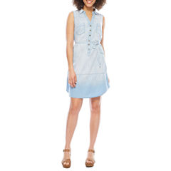 Luxology Sleeveless Shirt Dress
