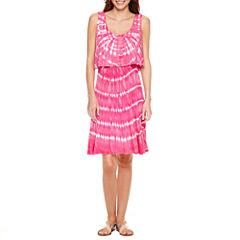 a.n.a Sleeveless Tie Dye Shift Dress