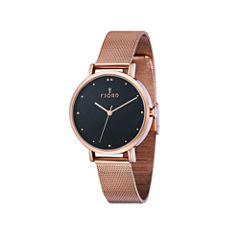 Fjord Womens Gold Tone Strap Watch-Fj-6019-55