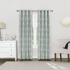 Sun Zero Blackout Grommet-Top Curtain Panel