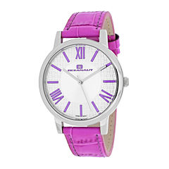 Oceanaut Moon Womens White Dial and Purple Leather Strap Watch