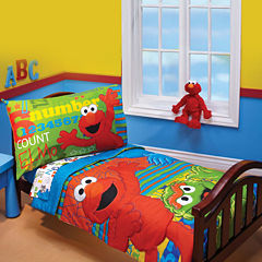 NoJo® Sesame Street ABC 123 4-pc. Toddler Bedding Set