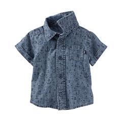 Oshkosh Short Sleeve Button-Front Shirt Boys