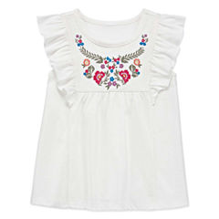 Arizona Round Neck Short Sleeve Blouse - Toddler Girls