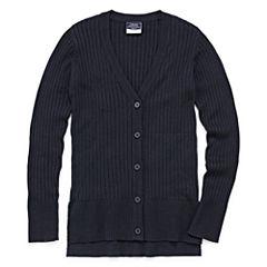 Izod Exclusive Long Sleeve V Neck Cardigan Girls