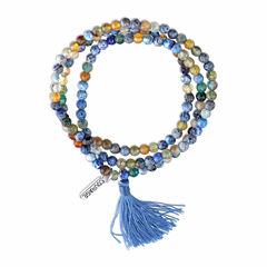 Bridge Jewelry Womens Blue Silver Over Brass Wrap Bracelet