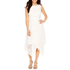R & K Originals Sleeveless Lace Hankey Hem Maxi Dress