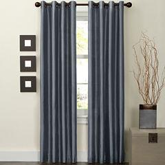 Jardin Faux-Silk Thermal Grommet-Top Curtain Panel
