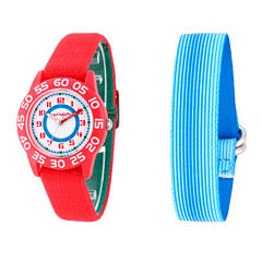 Red Balloon™ Boys Blue and Red Interchangeable Bracelet Watch Set