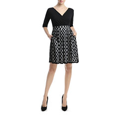 Phistic Bailey Elbow Sleeve Fit & Flare Dress