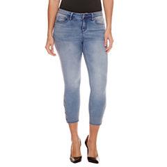 Bisou Bisou Side Lace Up Crop Skinny Jeans