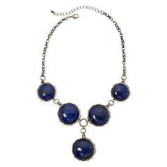 Aris by Treska Dark Blue Y Necklace