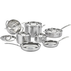 Cuisinart® MultiClad Pro 12-pc. Tri-Ply Stainless Steel Cookware Set