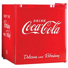 Nostalgia CRF170COKE Coca-Cola 1.7 Cubic-Foot Refrigerator with Freezer Compartment