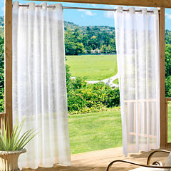 Escape Solid Grommet-Top Outdoor Curtain Panel