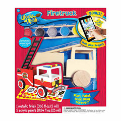 Masterpieces Puzzles Works of Ahhh... Wood Painting Kit - Fire Truck