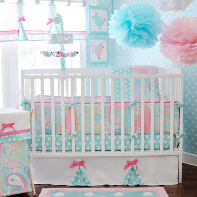 my baby sam pixie baby in aqua 3pc crib bedding set