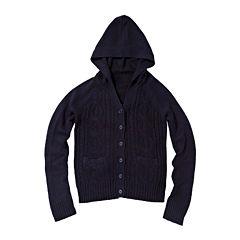 U.S. Polo Assn.® Long-Sleeve Cable Knit Hoodie - Preschool Girls 4-6x