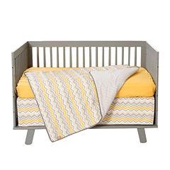 Trend Lab® Buttercup Zigzag 3-pc. Crib Bedding Set