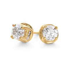 2 CT. T.W. Diamond Swirl Studs 14K Gold