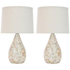 Matilda Ivory Capiz Shell Lamp- Set of 2