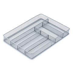 Steel Mesh 6-Compartment Cutlery Tray