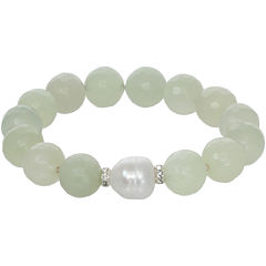ROX by Alexa Genuine Green Jade Stretch Bracelet