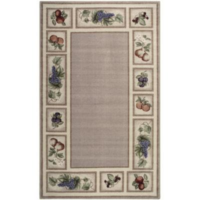 fresh fruit washable rectangular area rug