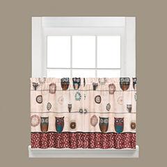 Saturday Knight Spice Owl Rod-Pocket Window Tiers